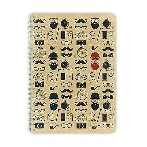 purepaper Notizblock | Notizbuch | Spiralblock | Bullet Journal | 1001 HIPSTER, DIN A5 60 Blatt gepunktet / dot grid / Punktraster, 100g