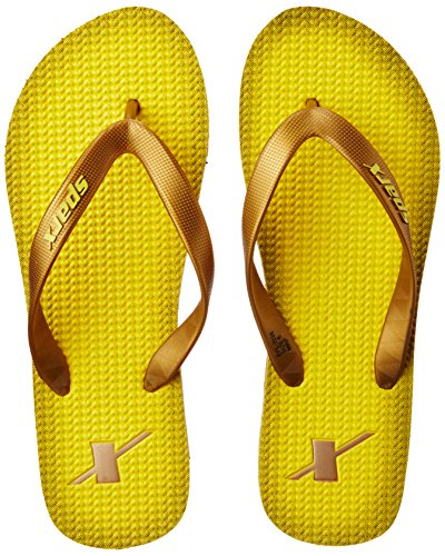 Sparx Women's Yellow and Golden Flip-Flops and House Slippers - 6 UK/India (39.33 EU)(SF2026LYLGO)  available at amazon for Rs.199
