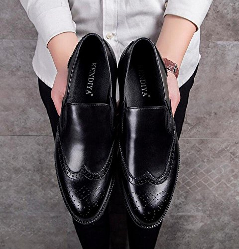SHIXR Männer Oxford Brogue Business Herrenschuhe Britische Sets Of Feets Herrenschuhe High-Grade Leder Authentic Schuhe Breathable Black