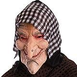 Maschera Befana Ciuffo di Capelli e Foulard Anziana Strega Halloween Carnevale Epifania
