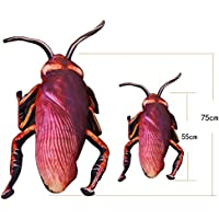 Shsyue® Almohada Simulación Cockroach 3D Insectos Animales Creativos Rellena Almohada de Regalo de la Decoración del Partido (75cm)