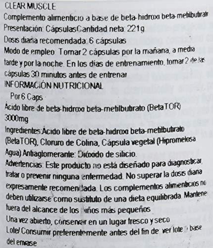 Muscletech Clear Muscle - 168 Cápsulas