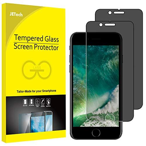 JETech Panzerglas für iPhone 8 iPhone 7, Anti-Spähen Gehärtetem Blickschutzfolie, 2 Stück