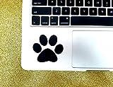 CELYCASY - Adesivo in vinile con impronta di zampa di cane, animale domestico, per computer portatili, MacBook, iPad, tablet, finestrini auto, specchi