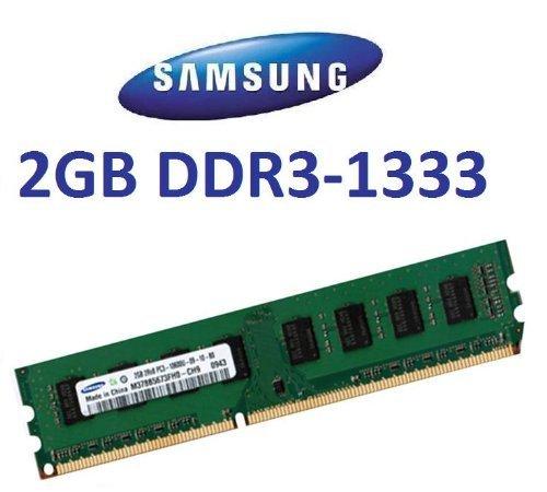Samsung Original 2 GB 240 pin DDR3-1333 (1333Mhz, PC3-10600, CL9) 128Mx8x16 single side (M378B5773CH0-CH9) für DDR3 + i5 Mainboards - 100% kompatibel zu 10666Mhz, PC3-8500 - 2-gb-ddr3-modul