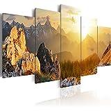 Cuadro 200x100 cm ! 5 Partes - Formato Grande - Impresion en calidad fotografica - Cuadro en lienzo tejido-no tejido � Monte Montanas c-B-0056-b-m 200x100 cm B&D XXL