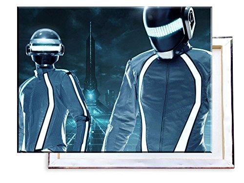 Unified Distribution Daft Punk Tron City - 80x60 cm - Bilder & Kunstdrucke fertig auf Leinwand aufgespannt und in erstklassiger Druckqualität