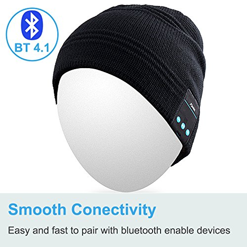 d3f54b6133b Rotibox Wireless Bluetooth Beanie - Black