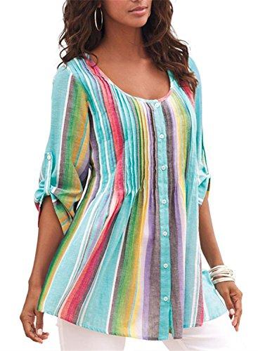 FIYOTE - Camisas - para Mujer Multicolor Multicolor (48-50) X-Large