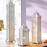 Stehleuchte Oriental-Design Mahal 1 x E14/max. 40W Metall weiß - Größe mittel
