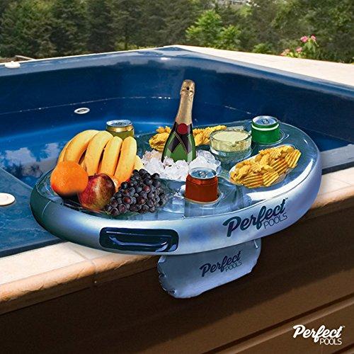 """Offizielle \""""Perfect Pools\"""" Spa Bar Aufblasbare Whirlpool Tisch für Getränke und Snacks - Perfekt für Pool Parties!"""