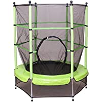 Costway 4.5FT/55 Inch Trampoline Junior Kid Safety Net Kids Toddlers In/Outdoor 55Inch Green
