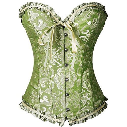 loveorama.de PhilaeEC Frauen Bridal Wäsche schnürt sich oben ohne Knochen Korsett (Green, XL)