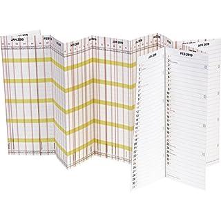 Brunnen 1070135 Wandkalender/Plakatkalender Personal-/Urlaubsplaner Modell 701 Planorama, 1 Seite = 15 Monate, 1380 x 295 mm, Papier, Kalendarium  2019