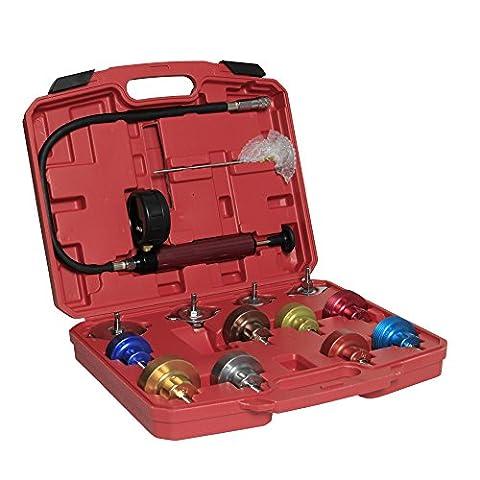 Sungle Universal Radiator Cooling Pressure Tester Kit Set Leak Detector