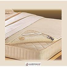Funda de colchón individual de lana pura merino