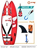 Zray Sup Fury 10' Stand up, Paddle, Planche, Surf, Board Adulte Unisexe, Rouge,...