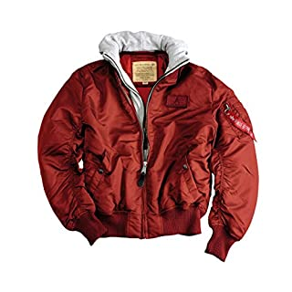 ALPHA Industries MA1 D Tec bomber jacket Burgundy, Herren:M