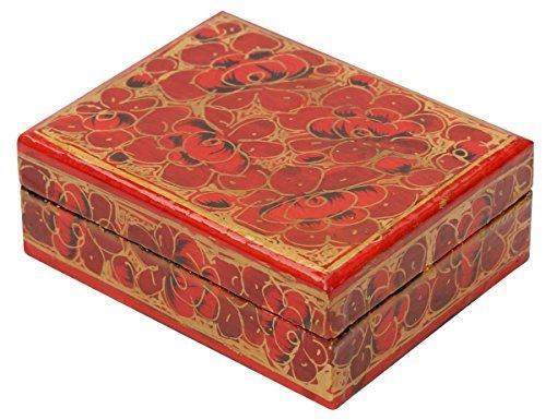 souvnear Dekorative rote (Farbe der Liebe) Box–Papier Pappmaché Schmuckkästchen 750Box für Ring Ohrringe Kette–Valentines Day Gifts (Valentine Ringe)