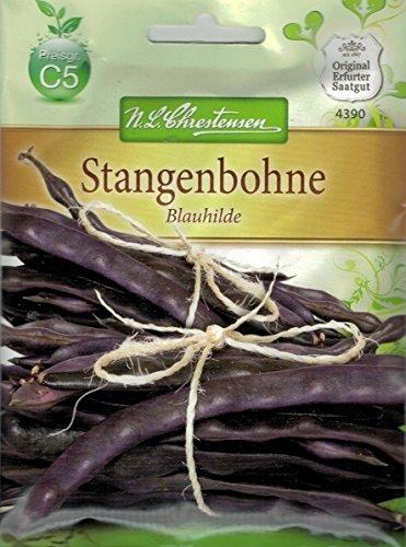 Phaseolus vulgaris L. 30 Samen BIO Seedeo® Stangenbohne /'Blauhilde/'
