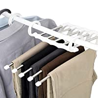 Dosige 10Pcs Coat Hangers Stainless Steel Hangers with Clips Clothes Hangers for Home 28.5 * 7cm