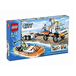 LEGO City Model 7726 Coast Guard Truck with Speed Boat 0673419102520 LEGO