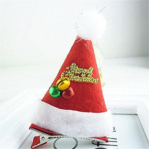 CDELEC 1 STÜCK Headwear Zubehör Schöne Hairclip Neuheit Weihnachten Kreative Mädchen Hut Grünes Blatt Haarspangen Kopf tragen (Gold) (Weihnachten Neuheit Hut)