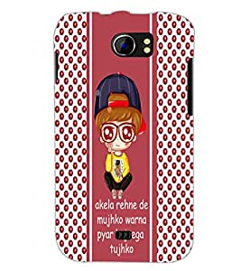 PrintDhaba Quote D-6062 Back Case Cover for MICROMAX A110 CANVAS 2 (Multi-Coloured)