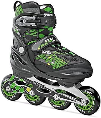 Roces Moody 4.0 Patines en línea juveniles, niño, Inline-skates Moody 4.0, black-light green