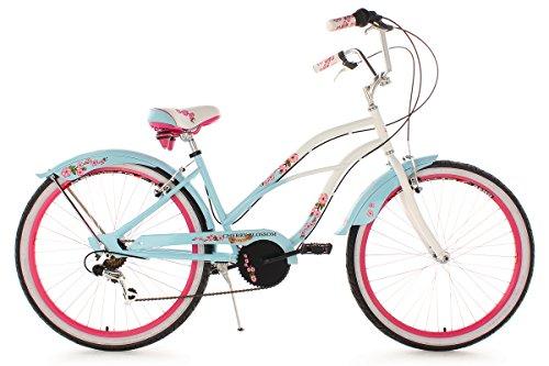 KS Cycling Damen Fahrrad Beachcruiser Cherry Blossom RH 42 cm, Hellblau, 26, 735B