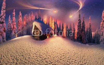 "Poster-Bild 50 x 30 cm: ""Christmas in the Carpathians"", Bild auf Poster"