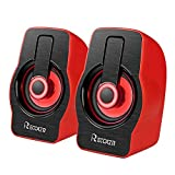 Computer Speakers with Stereo Sound, RECCAZR LED Colorful Desktop Speakers,63 inches Cable Length,USB