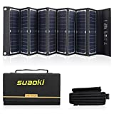 Suaoki 60W Solar Panel Charger High Efficiency 18V DC & 5V USB Output Portable Foldable Charger