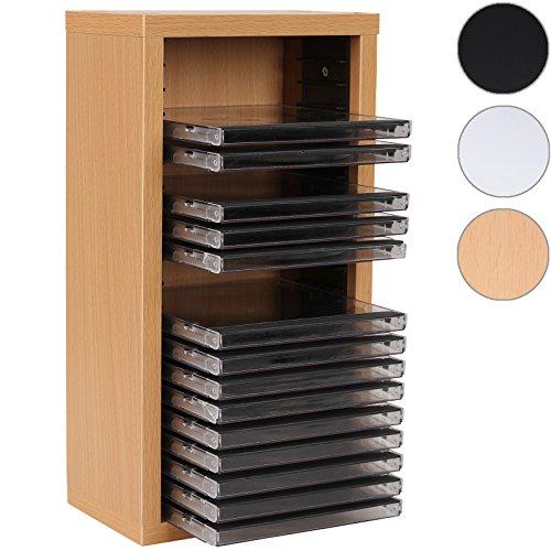jago scaffale mobile porta cd muro parete fino 20 cd colore faggio. Black Bedroom Furniture Sets. Home Design Ideas