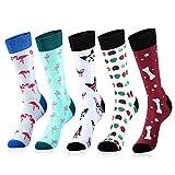 Centrawin Socken Herren Bunt Gemusterte Crew Herrensocken Sport Lustige Socken für Männer 80% Baumwolle Socken Größe 38-46