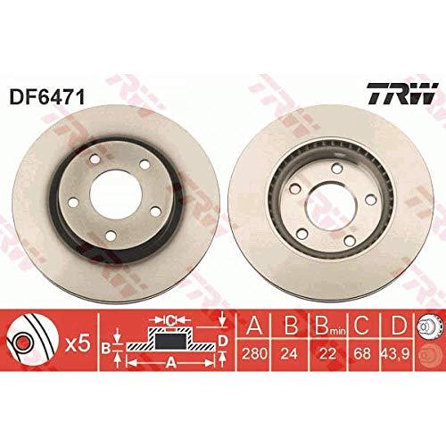 TRW Brake Disc (Pair) - DF6471