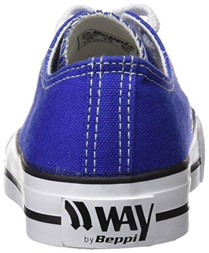 Beppi Canvas, Chaussures de Fitness Femme Bleu (blue)