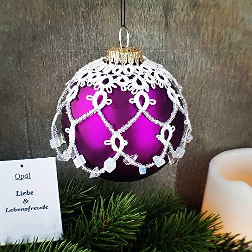 Weihnachtsdeko, Kugel Tattoo mit Edelsteinen, Opal, Tatting, Occhi, Weihnachtskugeln, Weihnachtsschmuck (Dekorativen Weihnachtsschmuck)