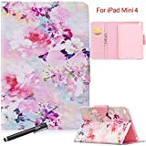 NewShine Ipad Mini 4 Case, Newshine Pu Leather Smart Stand Magnetic Closure Tablet