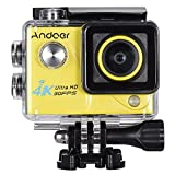 Andoer 4K 30FPS 1080P 60FPS Full HD DV 2.0in LTPS LCD Screen Wifi Waterproof 170°Wide Angle Outdoor Action Sports Camera Camcorder Digital Cam Video Car DVR (Gelbe)
