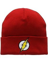 Bonnet en laine Flash Logo - Bonnet DC Comics - Super-héros - avec logo brodé - rouge - Design original sous licence - LOGOSHIRT