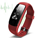 Fitness Tracker Armband Smart Watch Wasserdicht Ip67,Bracelet Wristband Mit Herzfrequenz Schlafanalyse/Kalorienzähler/SMS SNS Call Benachrichtigung/Wetter Push/Stoppuhr/14 Trainingsmodi