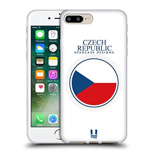 Head Case Designs Bandiera Albanese Bandiere E Toppe Cover Morbida In Gel Per Apple iPhone 7 / iPhone 8 Bandiera Della Repubblica Ceca