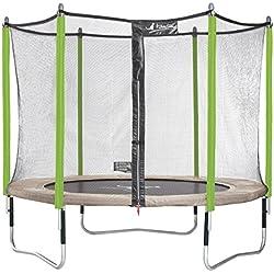 Kangui - Trampoline de Jardin 305 cm + Filet de sécurité + échelle + bâche de Protection JUMPI Zen 300.