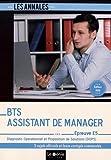 BTS Assistant de Manager - Épreuve E5: Diagnostic Opérationnel et Proposition de Solutions (DOPS)...