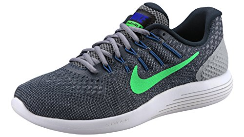 Nike Lunarglide 8, Chaussures de Running Compétition homme Blau (Armory Navy/Electro Green-Stealth)