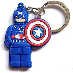 Lego Movie Capitán América Llavero de PVC de alta calidad