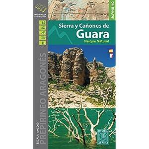 Sierra y cañones de Guara, mapa excursionista. Escala 1:40.000. Editorial Alpina.