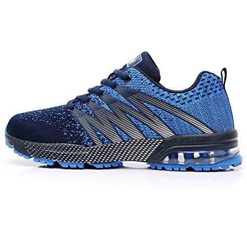 Axcone Damen Herren Sneaker Laufschuhe Air Sportschuhe Kletterschuhe Turnschuhe Running Fitness Sneaker Outdoors Straßenlaufschuhe Sports 8995 BU 43EU