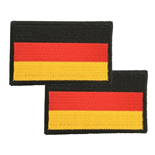 HCS Ausrüstungs GmbH Deutschland Flagge Stoff-Patch 8 x 5 cm 2 Stück im Set